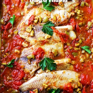 Mediterranean Style Baked Tilapia + How Do You O-live $5000 Sweepstakes!