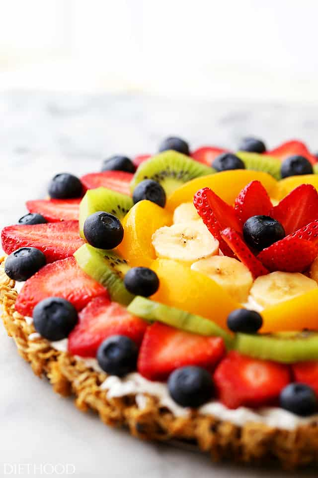 carbs in fruit healthy fruit pizza crust