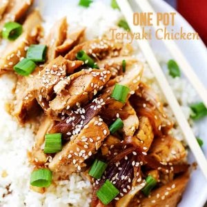 One Pot Easy Teriyaki Chicken Recipe - One pot and about 30 minutes are all you will need for this effortless, yet amazing Teriyaki Chicken recipe.