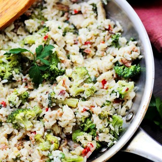 One Skillet Broccoli and Rice Ranch Chicken Recipe