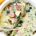 Smoked Sausage, Kale and Potato Soup| Easy 30 Minute Soup Recipe