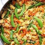 Chicken and Veggies Ramen Noodles SkilletRecipe | Diethood