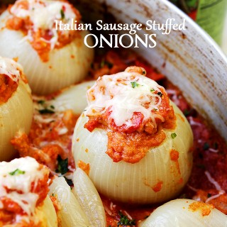 Italian Sausage Stuffed Onions Recipe