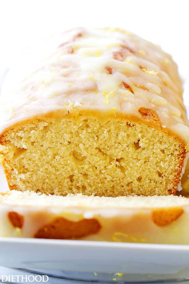 Lemon Bread Recipe - Packed with lemon flavor, this easy to make quick bread is sweet, crumbly, lightened-up, and incredibly flavorful! The Lemon Glaze takes it over the top!