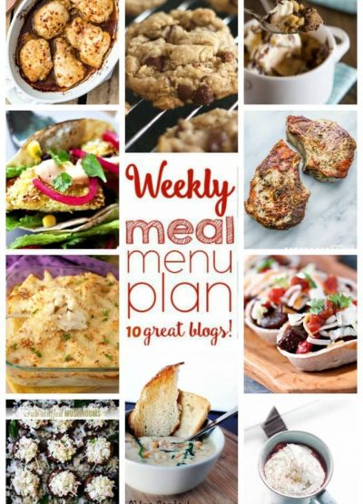 Weekly Meal Plan (Week 30) - 10 great bloggers bringing you a full week of recipes including dinner, sides dishes, and desserts!