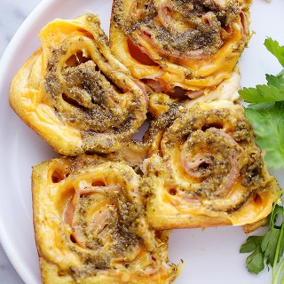 Pesto Ham and Cheese Rollups Recipe