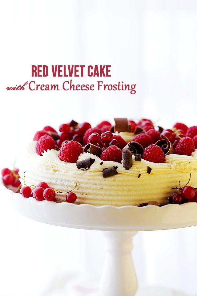 Red velvet cake frosting recipes