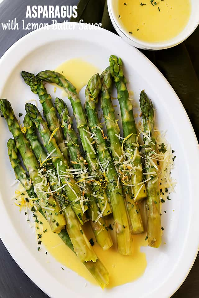 Asparagus With Lemon Butter Sauce Recipe Easy Asparagus Recipe