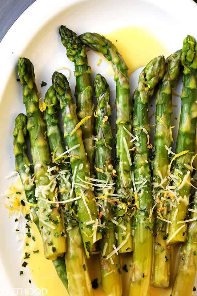 Asparagus With Lemon Butter Sauce Recipe Easy Asparagus Recipe
