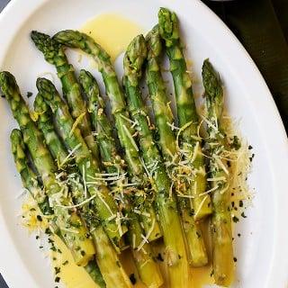 Asparagus with Lemon Butter Sauce Recipe