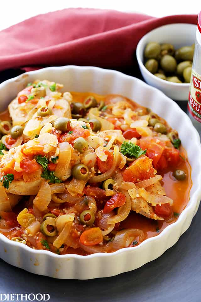 Chicken With Tomatoes And Olives Recipe — Dishmaps