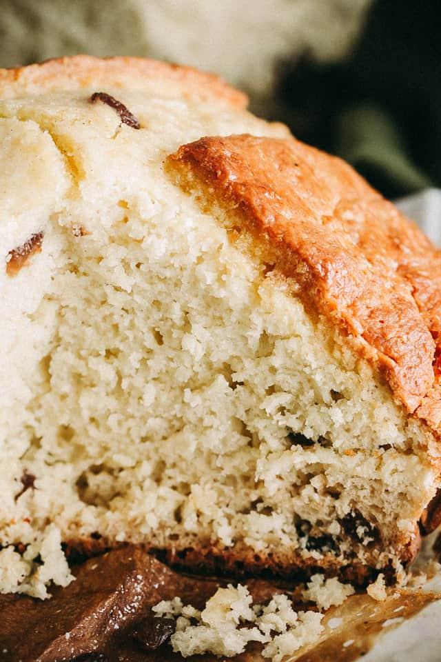 no rise bread, no knead bread, raisin bread, st. patrick's day recipes, irish bread