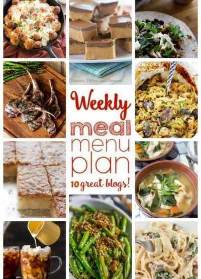 Weekly Meal Plan (Week 37) - 10 great bloggers bringing you a full week of recipes including dinner, side dishes, and desserts!
