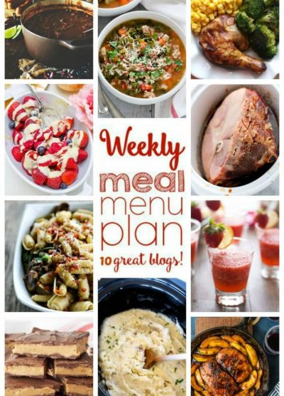 Weekly Meal Plan (Week 35) – 10 great bloggers bringing you a full week of recipes including dinner, sides dishes, and desserts! Read more at https://diethood.com/?p=26620#6HCIPuqMrpftI2ye.99