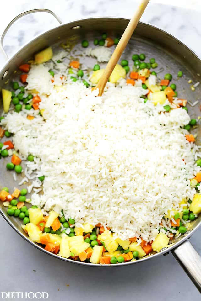 how to make quick and easy fried rice