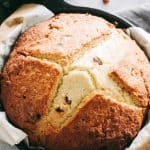 Soda Bread Recipe in a Skillet - Super easy, slightly sweet, quick and traditional Irish Soda Bread made with just 6 ingredients!