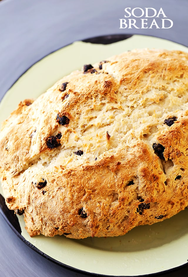 Soda Bread Recipe - Super easy, quick and traditional Irish Soda Bread made with just 5 ingredients!
