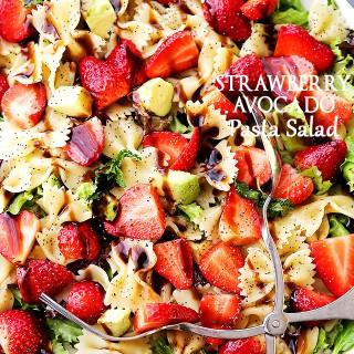 Strawberry Avocado Pasta Salad with Balsamic Glaze Recipe