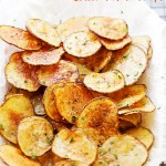 Chili Lime Baked Potato Chips Recipe - Simple to make, delicious and homemade baked potato chips flavored with fresh lime juice and chili powder.