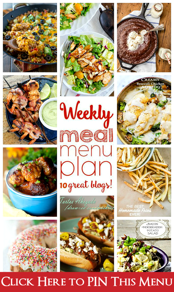 Weekly Meal Plan (Week 42) - 10 great bloggers bringing you a full week of recipes including dinner, sides dishes, and desserts!