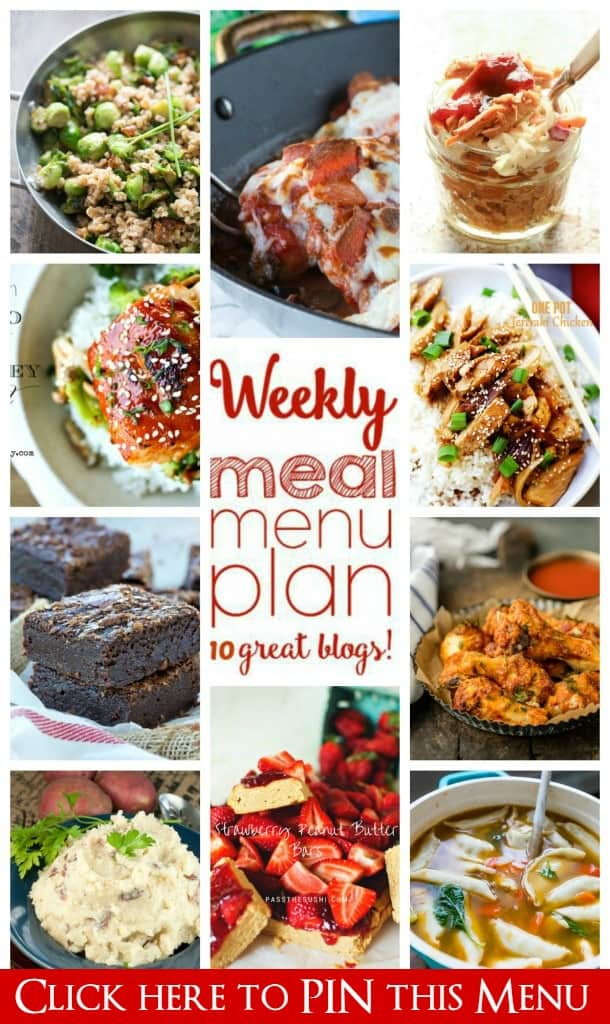 Weekly Meal Plan (Week 40) - 10 great bloggers bringing you a full week of recipes including dinner, side dishes, and desserts!
