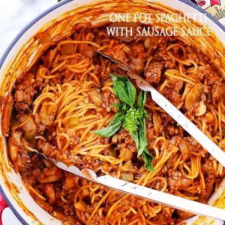 One Pot Spaghetti with Sausage Sauce Recipe