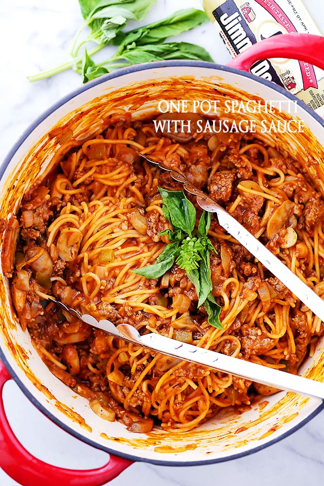 One Pot Spaghetti with Sausage Sauce Recipe