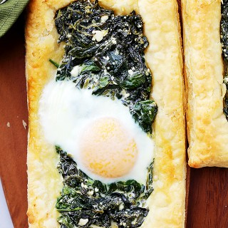Spinach and Feta Puff Pastry Breakfast Tart Recipe