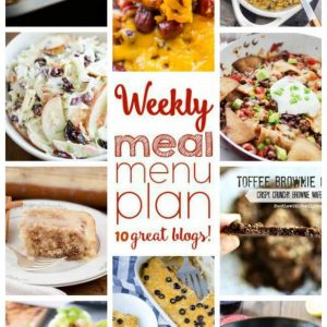 WEEKLY MEAL PLAN (WEEK 39) - 10 great bloggers bringing you a full week of recipes including dinner, side-dishes, and desserts!