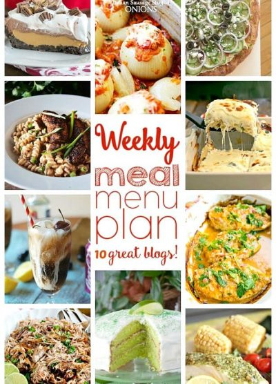 Weekly Meal Plan Week 41 - 10 great bloggers bringing you a full week of recipes including dinner, side dishes, and desserts!