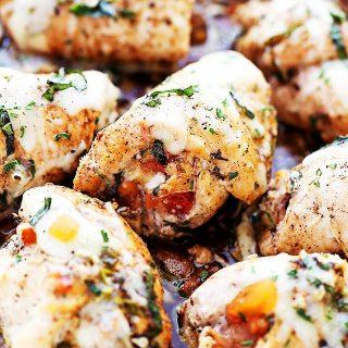 Bruschetta Stuffed Balsamic Chicken