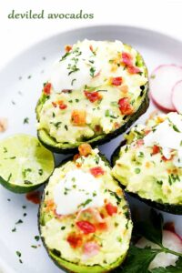 Deviled Avocados Recipe   The Best Easy Avocado Egg Salad Recipe
