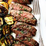 Jack Daniel's Grilled Steak Recipe - New York Strip Steaks marinated in one of the most delicious marinades made with Jack Daniel's Whiskey and Soy Sauce. Our favorite steak house meal made at home!