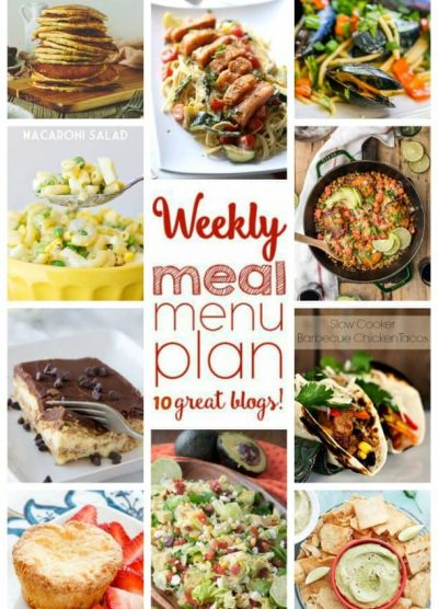 Weekly Meal Plan (Week 46) - 10 great bloggers bringing you a full week of recipes including dinner, side dishes, and desserts!