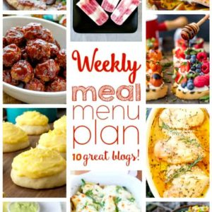 Weekly Meal Plan (Week 44) - 10 great bloggers bringing you a full week of recipes including dinner, sides dishes, and desserts!