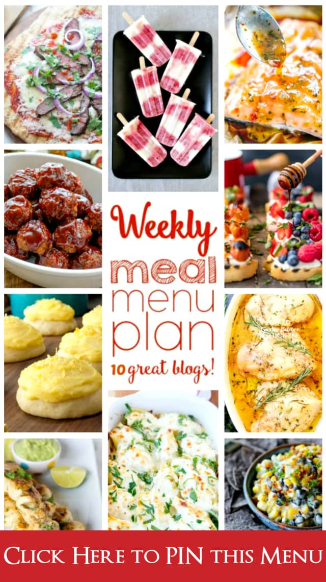 Weekly Meal Plan (Week 44) - 10 great bloggers bringing you a full week of recipes including dinner, side dishes, and desserts!