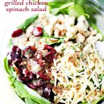 Organic Grilled Chicken Spinach Salad by ElevĀte