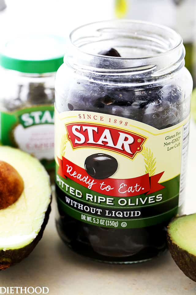 STAR Pitted Ripe Black Olives