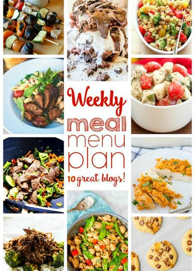 Weekly Meal Plan (Week 43) - 10 great bloggers bringing you a full week of recipes including dinner, side dishes, and desserts!