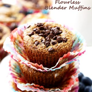 Healthy Flourless Blender Muffins + Recipe Video!