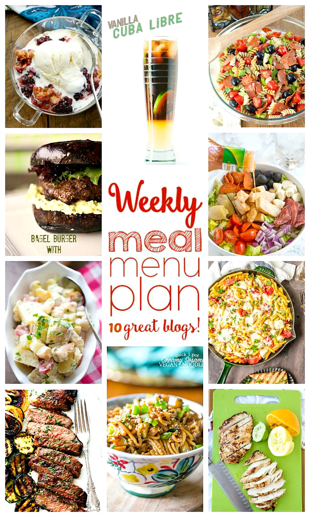Weekly Meal Plan (Week 49) - 10 great bloggers bringing you a full week of recipes including dinner, side dishes, and desserts!