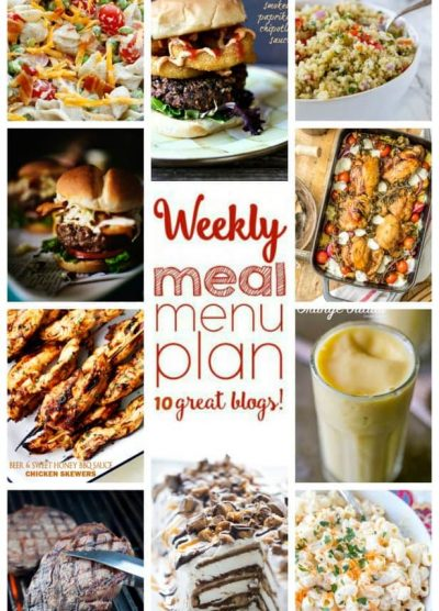 WEEKLY MEAL PLAN (WEEK 50) - 10 great bloggers bringing you a full week of recipes including dinner, side dishes, and desserts!