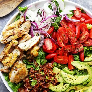 Rosemary Chicken Salad with Avocado and Bacon