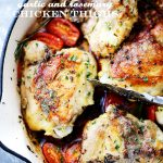 Skillet Garlic and Rosemary Chicken Thighs