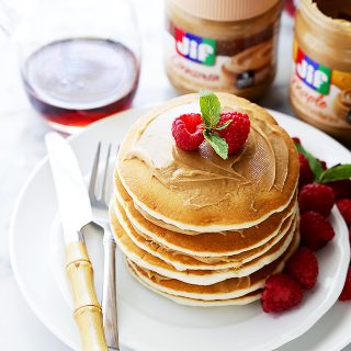 Quick and Simple Maple Peanut Butter Pancakes