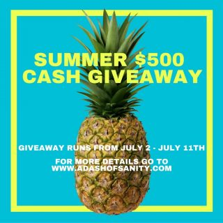 $500 SUMMER CASH GIVEAWAY!