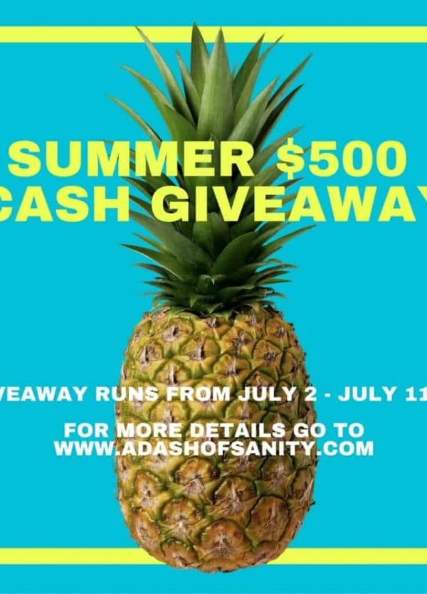 $500 Summer Cash Giveaway