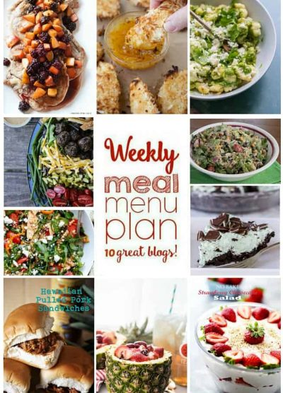 WEEKLY MEAL PLAN (WEEK 53) - 10 great bloggers bringing you a full week of recipes including dinner, side dishes, and desserts!