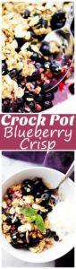 Crock Pot Blueberry Crisp Recipe | Easy Crock Pot Summer Desserts