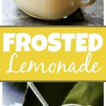 Frosted Lemonade Recipe - Easy, delicious and refreshing two-ingredient Chick-fil-A Frosted Lemonade copycat made with lemonade and vanilla frozen yogurt!